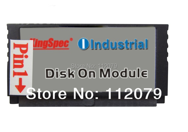 Nueva kingspec ssd ide/pata 44pin dom slc 4 gb (kdm-44vs.2-004gss) solid state disk on module industrial unidades vertical + socket