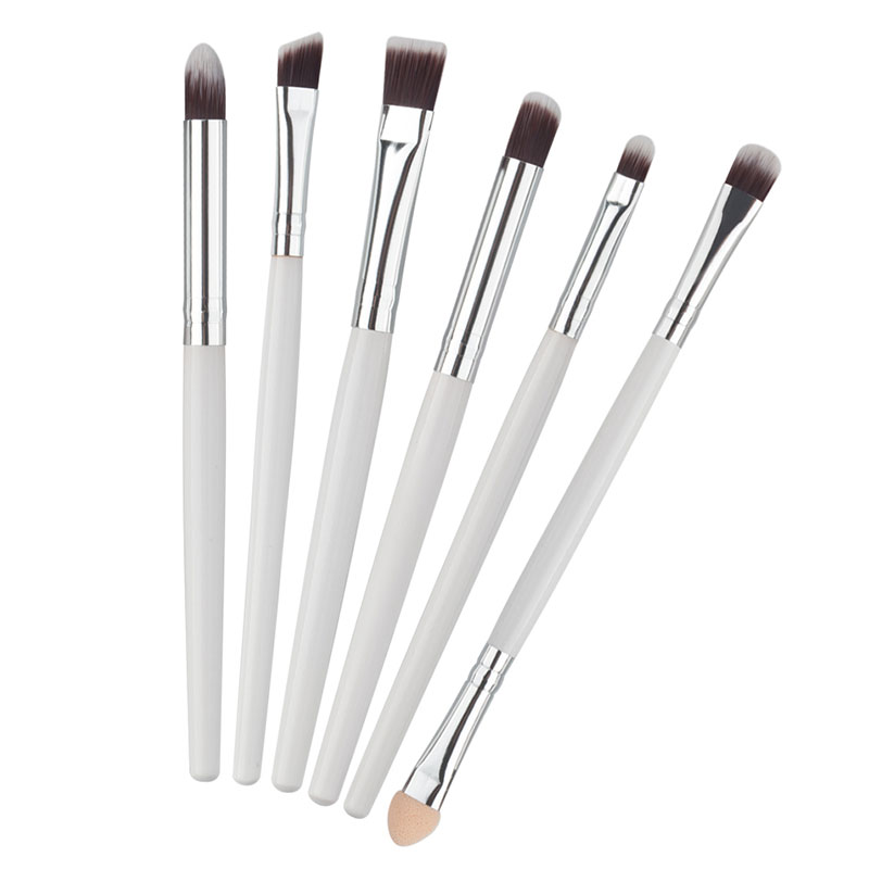 6PCS Eye Makeup Cosmetics Brushes Set Pro Eyeliner Eyeshadow Eyebrow Lip Brushing Beauty Make Up Tools FM88 pro 20pcs set make up styling tools cosmetic eyeliner eyebrow lipsticks shadow wood pincel makeup blushes kit cosmetics pinceaux