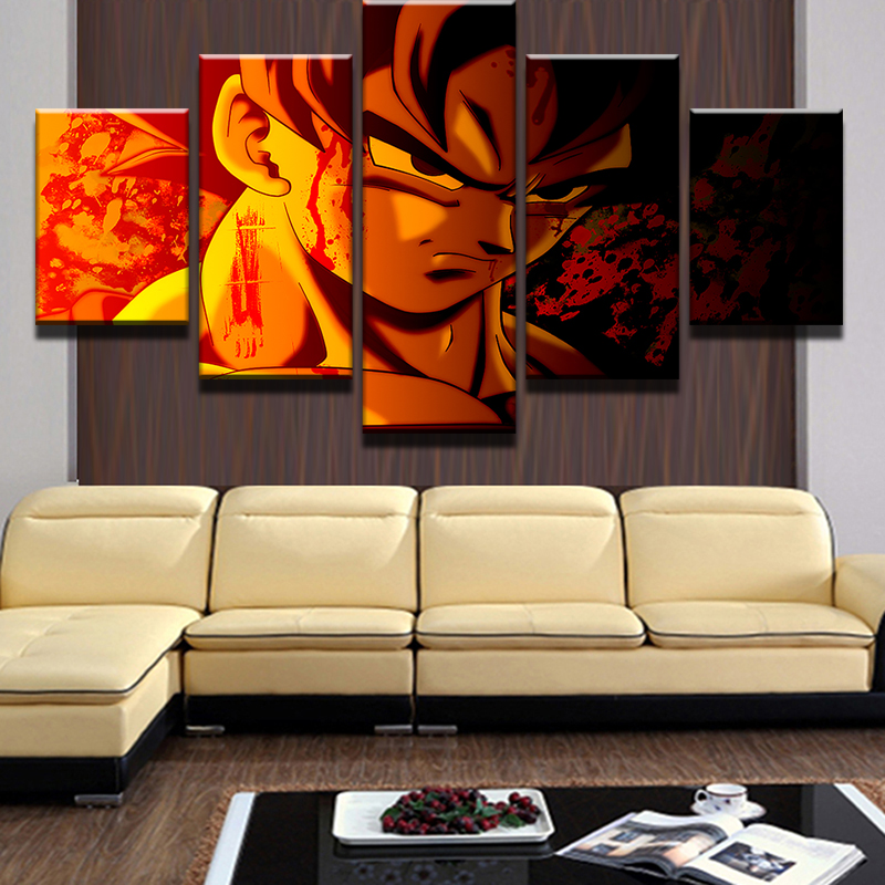 HD High Quality Dragon Ball Publicity Picture Wukong Portrait Canvas Painting Home Living Room Decoration in Painting Calligraphy from Home Garden