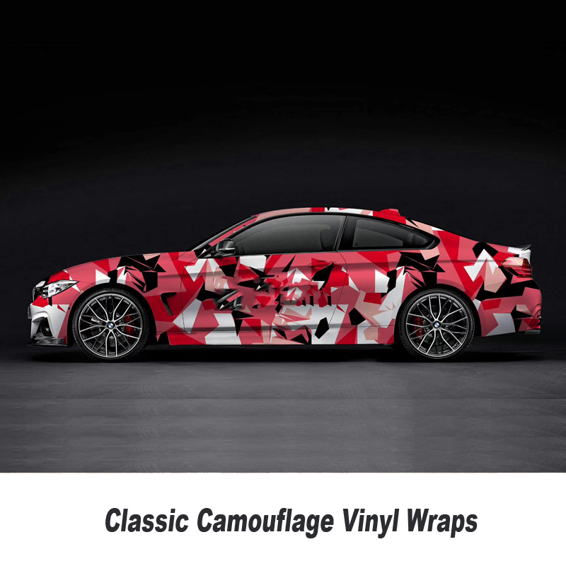 High quality machine Camo Vinyl Wrap Car Motorcycle Decal Motorcycle Adhesive Sticker Film Digital Camouflage Wrapping high quality alaskan malamute retriever vinyl window dog decal sticker for car suv body