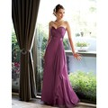 NEW Simple Long Purple Bridesmaid Dresses 2016 Sweetheart Cheap Wedding Party Gowns Ruched Bodice Vestido De Festa
