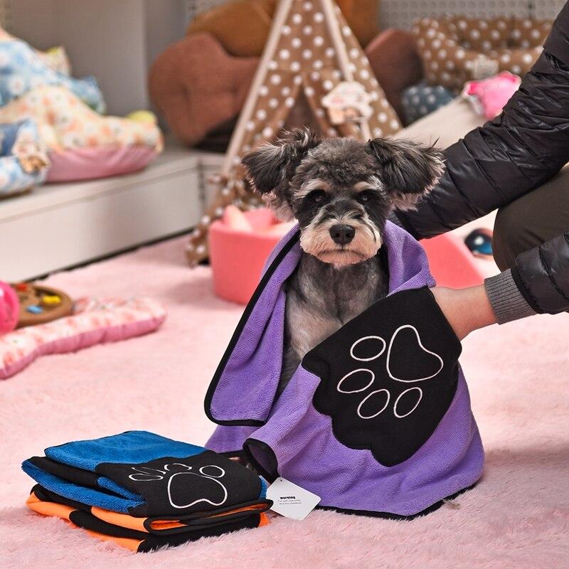 Cat Dog Pet Secarse con Una Toalla Ultra absorbente de Limpieza Necesario Perro