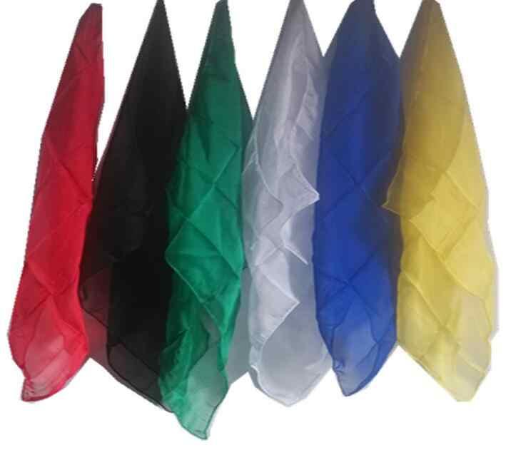100 шт/партия шелковые шарфы оптом волшебные фокусы шарфы ультра-тонкая игрушка с сюрпризом шелк Волшебная Опора изменение цвета реквизит для сцены