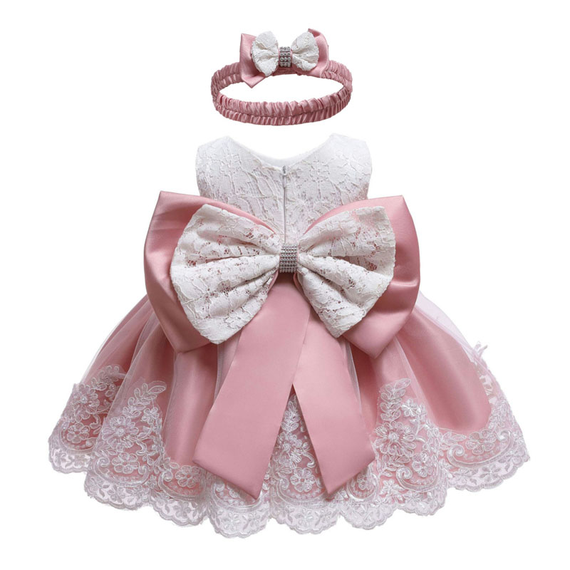 Infant Dress 2019 Summer Baby Princess Party Dresses For Baby Girls Christening Dress 1 Year Birthday Dress Newborn Baby Clothes(China)