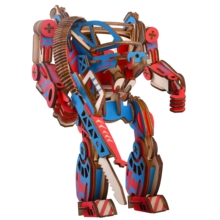 Laser Cutting 3D Wooden Puzzle Jigsaw APM Mechanical Armor DIY Assembly Kit Kids Educational Wooden Toys for Children Boys snake 3d jigsaw woodcraft kit wooden puzzle