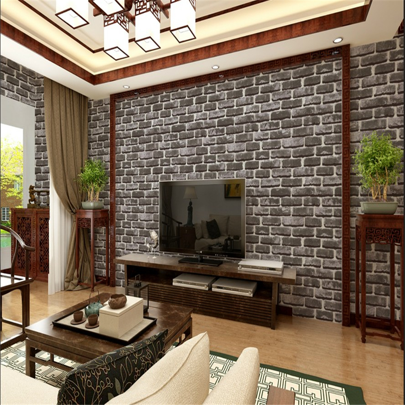 beibehang High-grade brick wallpaper antique brick wallpaper Chinese nostalgia restaurant hotel backdrop retro vintage wallpaper beibehang high grade large scale murals chinese classical seal calligraphy and painting wallpaper hotel tv sofa backdrop