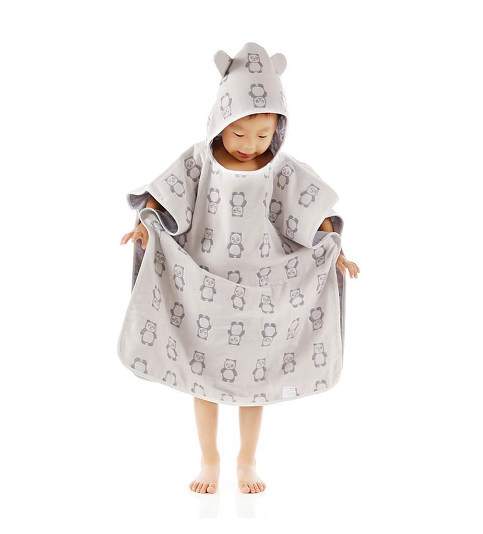 Baby Towel 4 Layers Gauze Towel Cap Cloak A Class Hooded Toddler Infant Bathrobe Cloth Embroidered Cotton Newborn Baby Towels