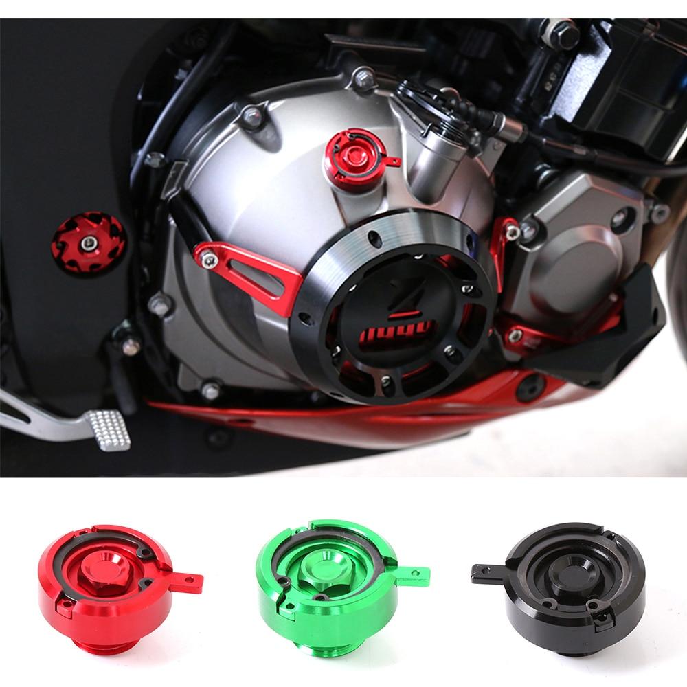 Универсальный мотоцикл ЧПУ алюминиевого сплава двигателя Масляный фильтр Кубок Крышка штепсельная Вилка винт для YAMAHA MT09 Кавасаки z1000 z800 для Хонда Дукати