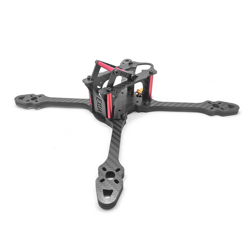 EXUAV 240mm Carbon Fiber 7mm Arm Frame Kit W/ XT60 Connector for RC Models Multicopter Motor ESC Camera Spare Part exuav fs230 230mm 5 inch 5mm arm thickness 3k carbon fiber frame kit for rc models multicopter motor camera spare part accs