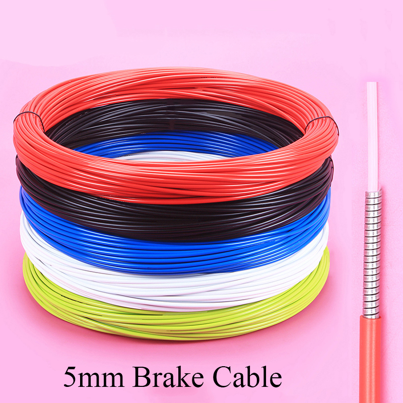 3m Bicycle Brake Cable 5mm Mountain Bike Road Bicycle Brake Line Pipe Brake Wire Line Colorful Bicycle Part