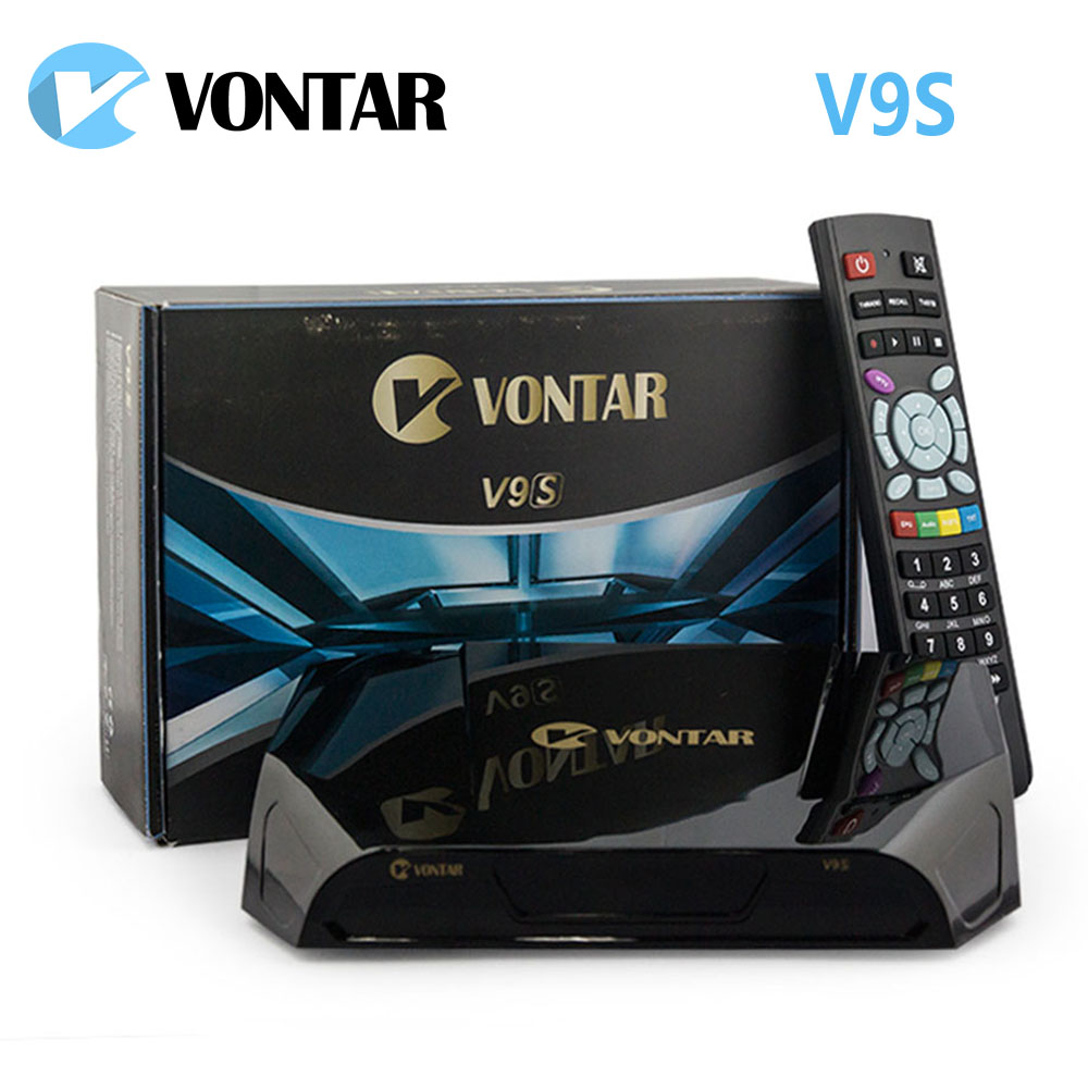 [Véritable] VONTAR V9S DVB-S2 HD Récepteur Satellite Wifi Construction à L'appui WEB TV Carte Partage NEWCAMD Boîte mieux que OPENBOX V8S