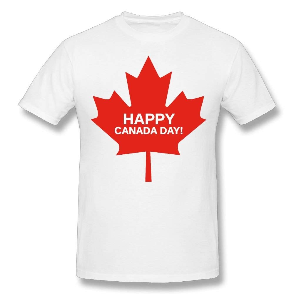 Men 39 s Maple Leaf Happy Canada Day 100 Cotton Prints Casual Short Sleeve Tee Different Colours High Quality Trend in T Shirts from Men 39 s Clothing