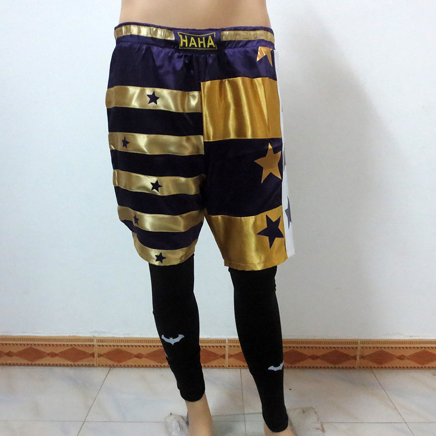 Handmade Suicide Squad Jared Leto Joker Cosplay Costume Btman Leggings +Short Unisex Any Size