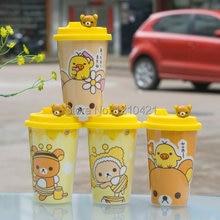 1pcs Ceramic cup Coffee Mug with Silicone Lid   Rilakkuma