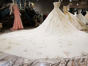 Image 5 - AIJINGYU Wedding Formals Indonesia Bridal With Sleeves Ball Gown 2021 Chinese New Wedding Dress