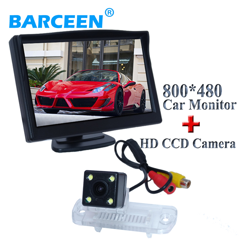 car backup camera bring car parking line ccd night vision + 4 led with 5car display monitor for Benz R Class