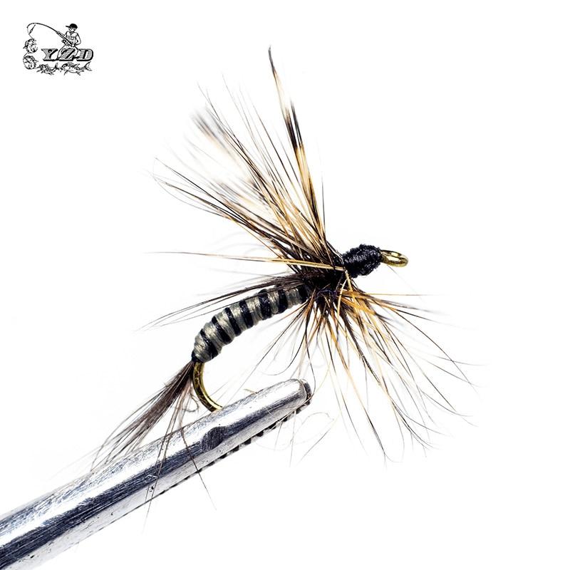 Klassinen 24 kpl kuiva-perhosen perhokalastussetti taimenelle lohille - Kalastus - Valokuva 2