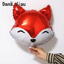 18 Inch animal head balloons monkey tiger rabbit zoo decor k
