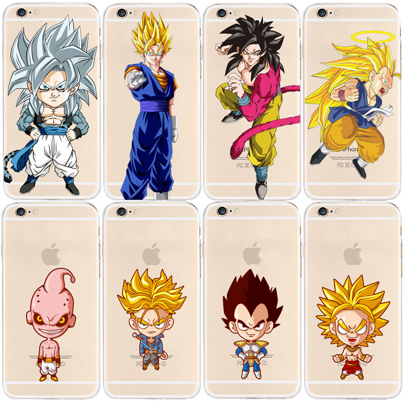 Dragon Ball Z Super Saiyan Soft TPU Case Cover For IPhone