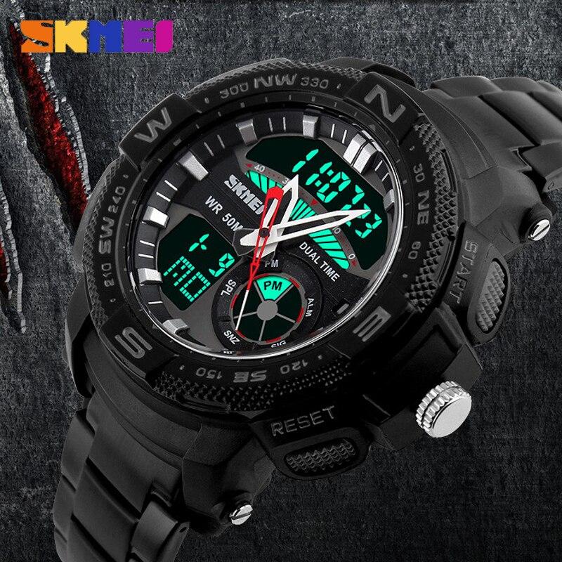 relogio masculino 2016 016 Skmei Full Steel Sport Watches men luxury brand sports dive 50m LED Military watches men quartz watch