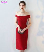 Real Photos Red Cocktail Dresses 2018 Sexy Strapless Knee Lingth Prom Gowns Short Cocktail Praty Dress Special Occasion Dresses