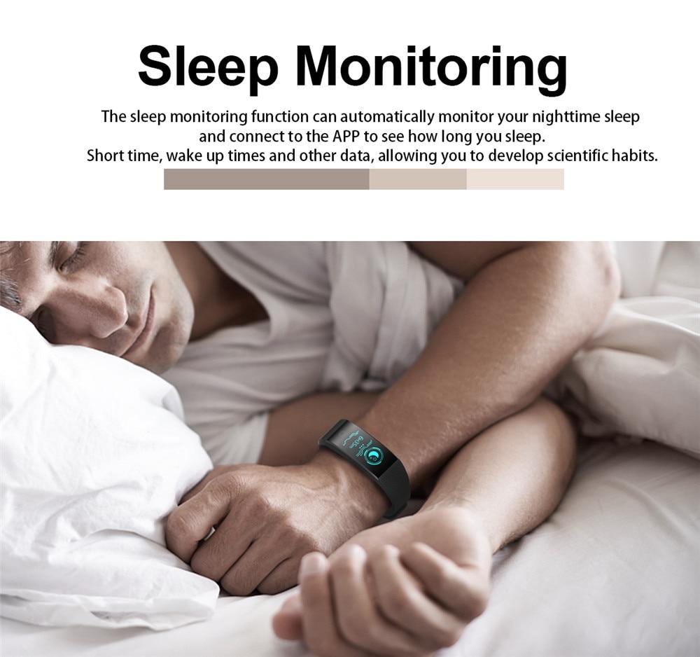 Pulseira inteligente Passometer IP68 Smartband Sono Monitor