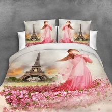 4 Pieces 3D Floral Duvet Cover Bedding Set Flower Bed linen Double Bed Sheet Comforter Summer Quilt King Size Bedspread