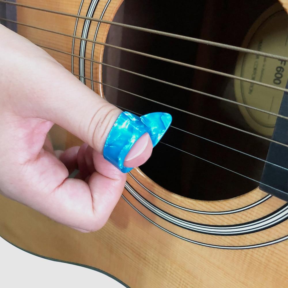 Thumb finger plectrum celluloid mediator voor akoestische bas - Muziekinstrumenten - Foto 5