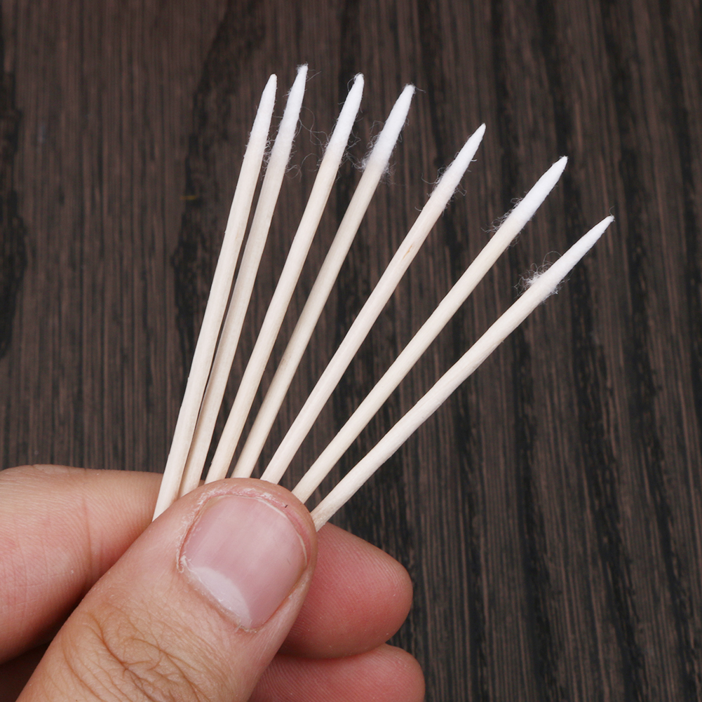 300 шт ватные тампоны с деревянной ручкой для женщин, косметические ватные палочки для макияжа, медицинские деревянные палочки для носа, чистка ушей, набор для ухода за здоровьем