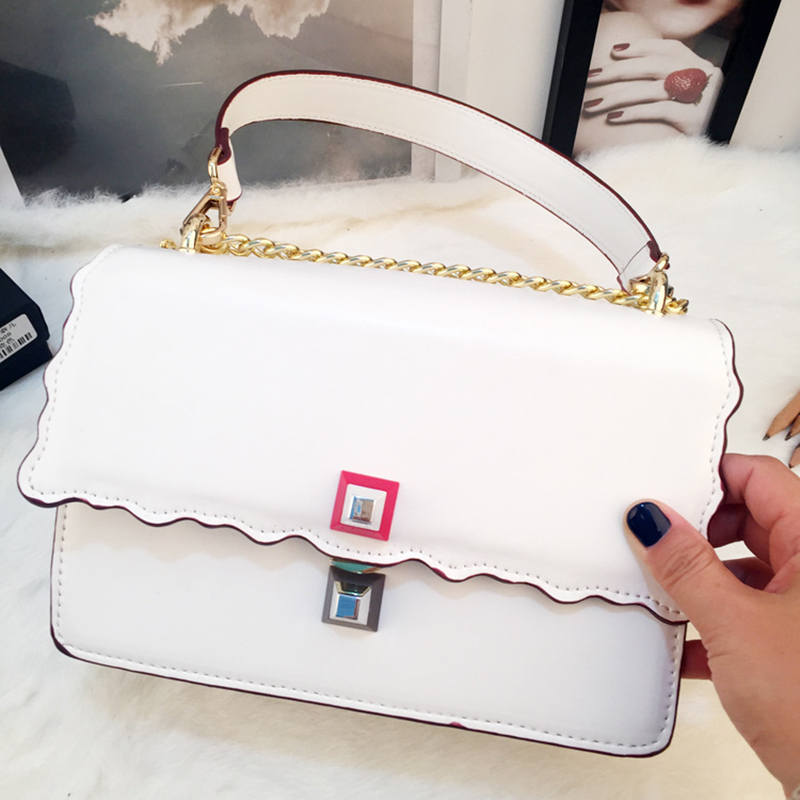 2017 new design women shoulder bag wave design lock open chains crossbody messenger handbag rowling original design new men s handbag male double screw lock design trend package shoulder bag messenger crossbody bag mb15