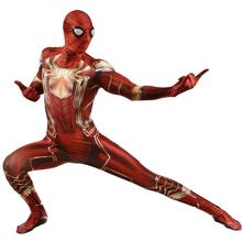 Comic Iron Spider-man Cosplay Costume with Lense Men Halloween Party Bodysuit Drop Shipping