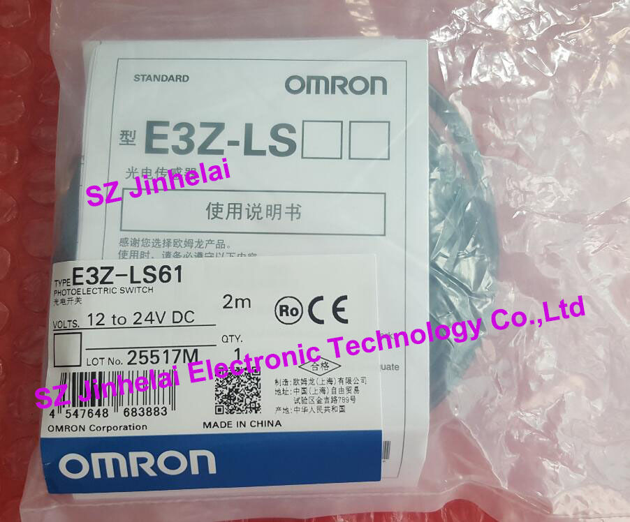 E3Z-LS61 E3Z-G61 New and original OMRON Photoelectric sensor Photoelectric switch 2M 12-24VDC new and original e3z ll86 e3z ls86 omron photoelectric switch 12 24vdc