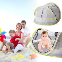 Baby Bed Mosquito Net Portable Beach Tent Infant UV-protecting Sunshelter Cradle Kids Travel Tent Foldable Zipper Crib Netting foldable pine wood baby crib with 4 lockable wheels no paint baby rocking cradle portable infant cot with mosquito net