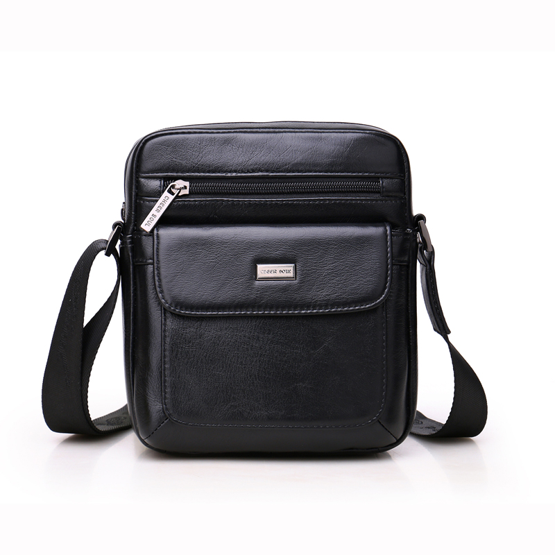 цена на hot sale 2017 New Fashion High-quality genuine leather  small shoulder bag men messenger bag crossbody leisure bag #l158