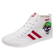 Suicide Squad Funny head Patterns Printing High top breathable canvas uppers sneakers student personalise fashionCasual shoes