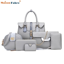 New Fashion Sets Tote Package Embossing Leather Womens Messenger Shoulder Pack Composite Bag Ladies Purses And