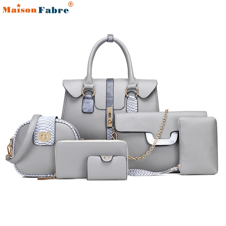 New Fashion font b Sets b font Tote Package Embossing Leather Womens Messenger Shoulder Pack Composite