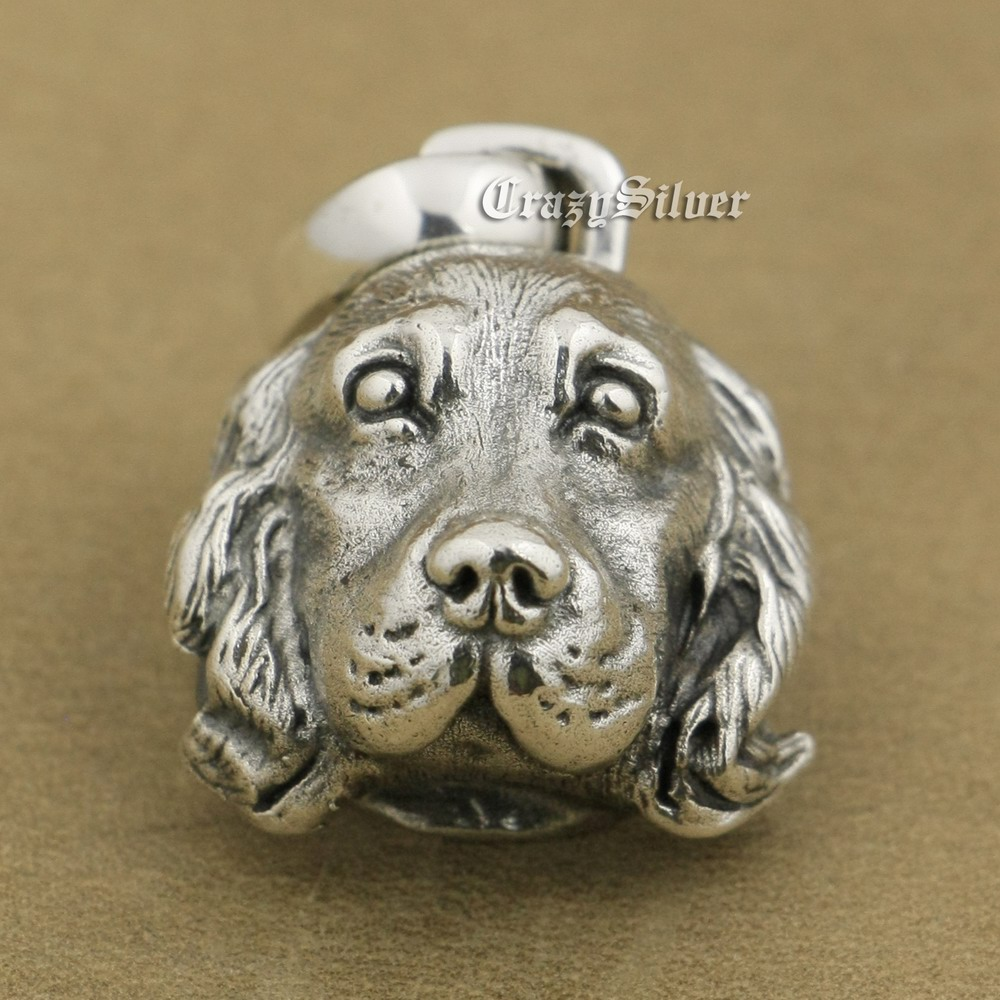 925 Sterling Silver Cocker Spaniel Pendant Charms Small Animal Pendant TA37A 925 Sterling Silver Cocker Spaniel Pendant Charms Small Animal Pendant TA37A