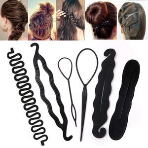 Image 1 - Grzebień spinka do włosów urządzenie do stylizacji kobiet gąbka piankowa dysk do włosów Twist lokówki Barrette pączek Maker akcesoria fryzjerskie