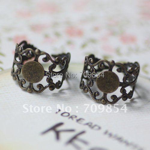 8 мм колодки античные бронзовые ручки покрытием кольцо в виде цветка база