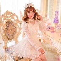 Princess sweet lolita dress Candy rain Sweet spring new patchwork Water jade points Princess chiffon dress C15AB5668