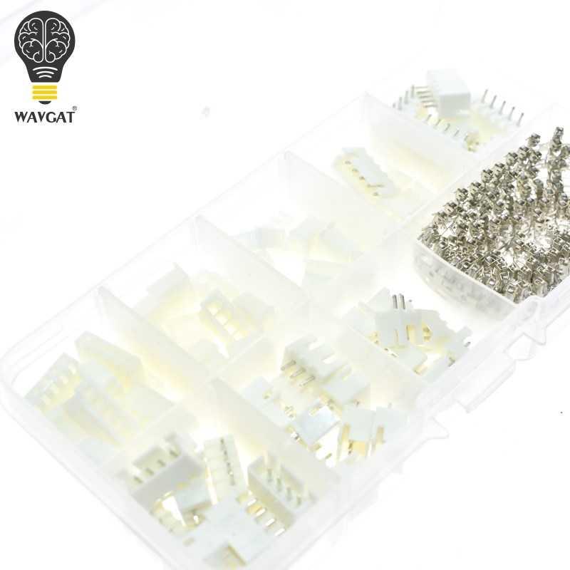 230 pièces XH2.54 2P 3P 4P 5 broches 2.54mm pas Kit de bornes/boîtier/broche en-tête JST connecteur connecteurs de fil adaptateur XH Kits TJC3