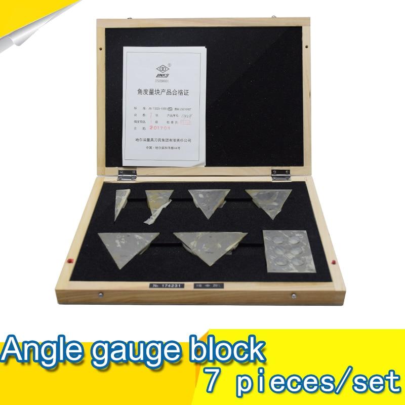 Angle Gauge block 7 pieces /set class 2 Metric gauge Universal angle ruler Combination suit gage block gauge block set 103pcs metric milling grinding setup layout machinist l99