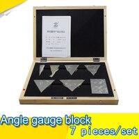 Angle Gauge block 7 pieces /set class 2 Metric gauge Universal angle ruler Combination suit gage block