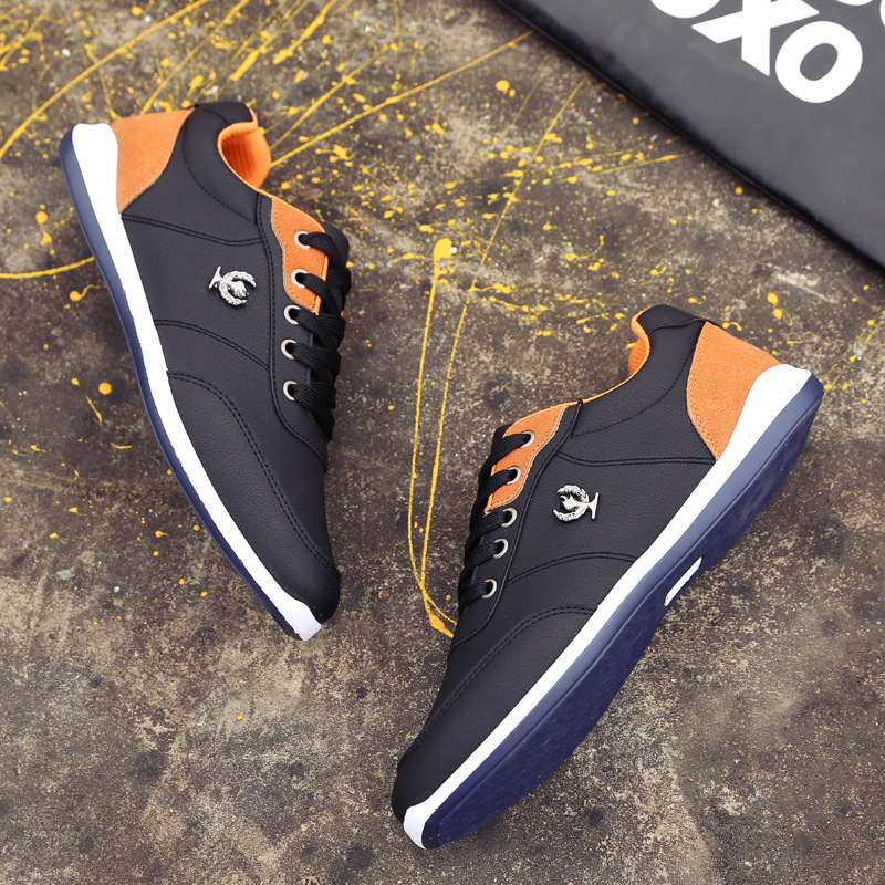 2017 spring new men walking shoes wholesale British tide men low to help running shoes top quality sports men board shoes