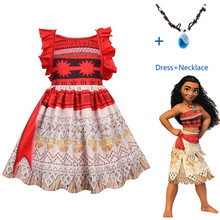 2019 Moana Kids Christmas Princess Dress Baby Girls Party Dresses Cosplay Costume Party Halloween for Kids Girls Gifts
