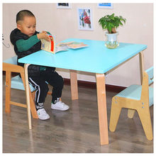Children Furniture Sets kids Furniture set solid wood desk+ 2 chair sets kids chair and study table sets minimalist 75*75cm new(China)
