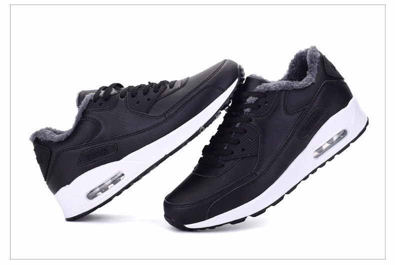 Plush Warm Women 90 Casual Shoes Winter Fashion Lace Up Sport Men Shoes Superstars Leather Runner Shoes Unisex Trainers YD11 (46)