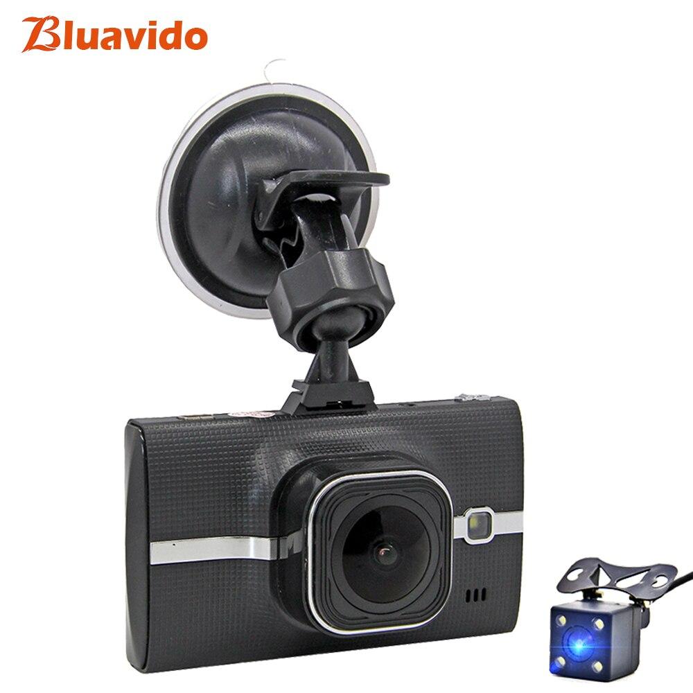 Bluavido двойной объектив Dash cam Full HD 1080p WDR Автомобильный dvr камера ADAS ночное видение Авто Видео регистраторы g-сенсор цикл запись