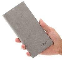 Super Slim Men Wallet Brand Designer Classica Vintage Soft Pu Leather Long Purse Bifold Wallets Credit
